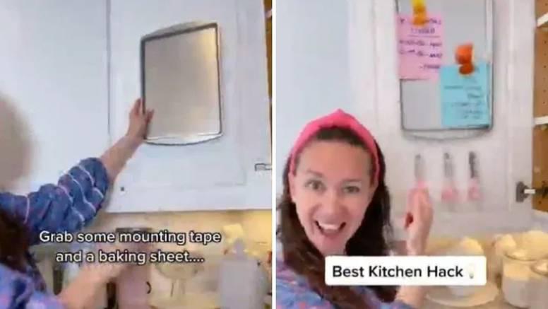 Napravite malu oglasnu ploču u kuhinji pomoću praznog pleha
