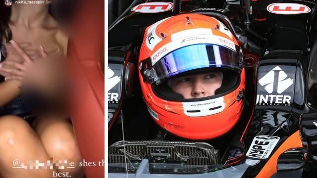 Tek ušao u Formulu 1 i napravio glupost! Dirao djevojku u autu i sve stavio na društvene mreže