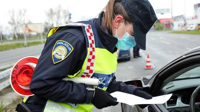 Zagreb: Policija na Jadranskoj aveniji provjerava propusnice i kršenje samoizolacije