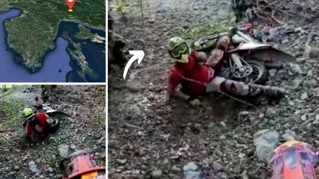 VIDEO Jeza kod Rijeke: Netko je opet postavio žicu na stazi u šumi. Na nju naletio motociklist