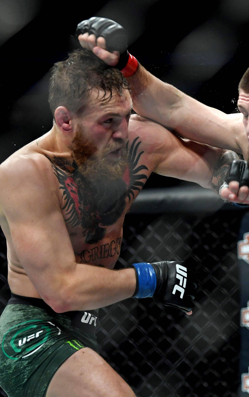 FILE PHOTO: Nurmagomedov vs McGregor