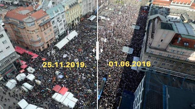 Ponovila se 2016.: Prosvjednici napunili trg zbog obrazovanja