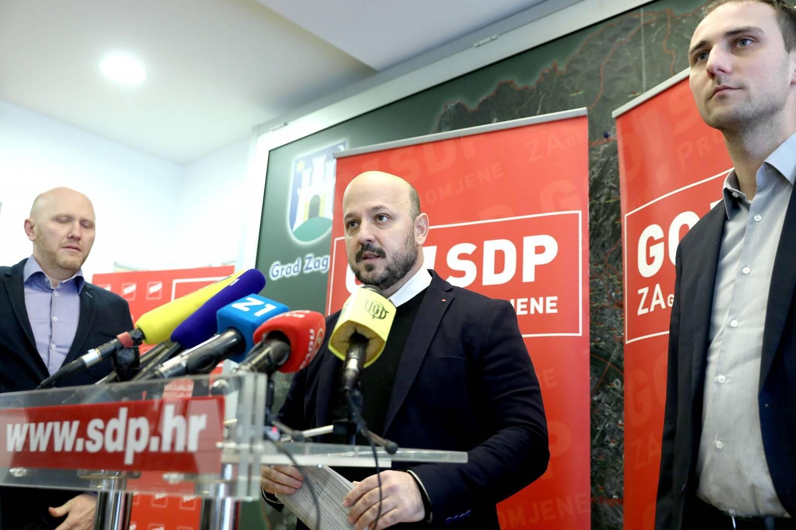 Zagreb: U sjedištu GO SDP-a održana je konferencija za medije