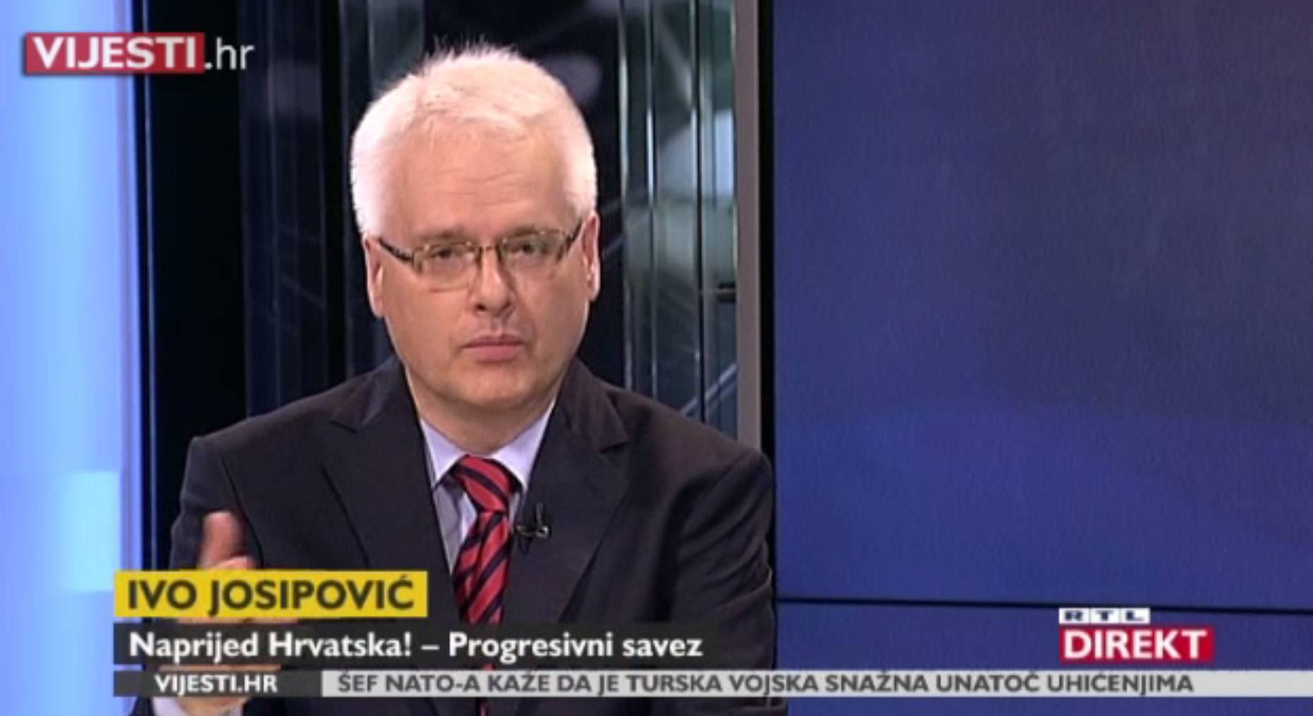 """Josipović: """"Pismo predsjednici nije kritika nego upozorenje"""""""
