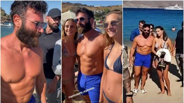Milijunaš partija na Mykonosu: Ponovno nosi uske plave hlačice