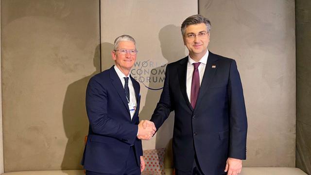 Plenković se sastao s moćnim šefom Applea Timom Cookom