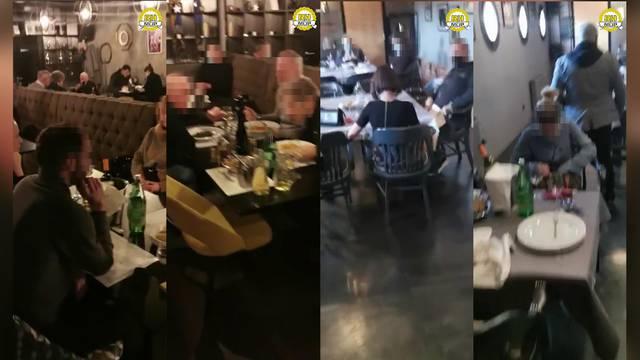 VIDEO Racija u restoranu na Trešnjevci: Policija zatekla 34 ljudi, osam bilo bez maski