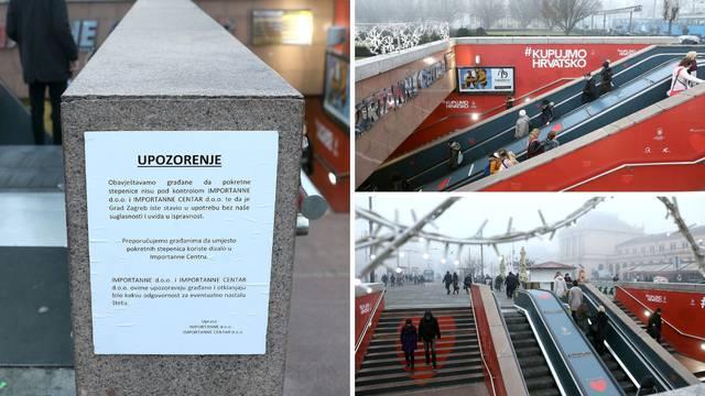 Pokretne stepenice puštene su u promet: Osvanulo upozorenje