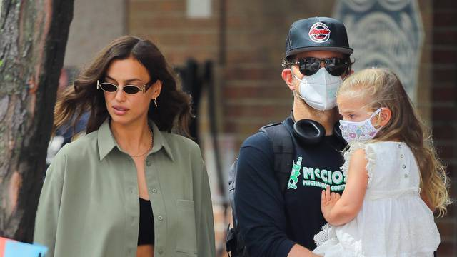 EXCLUSIVE: Bradley Cooper and Irina Shayk enjoy some quality family time with their daughter in New York City