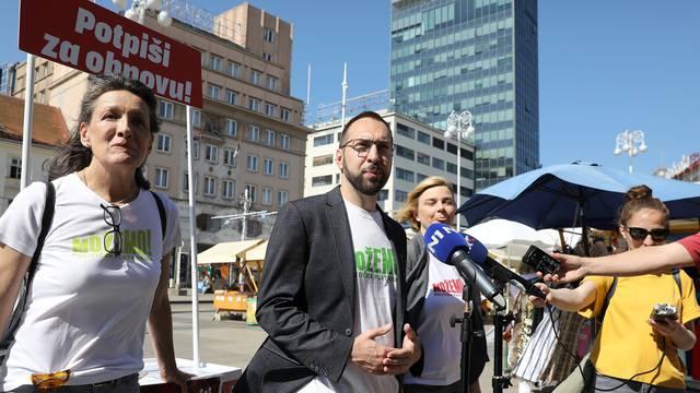Lijevo-zelena koalicija prikupila 15.000 potpisa za donošenje zakona o brzoj obnovi Zagreba