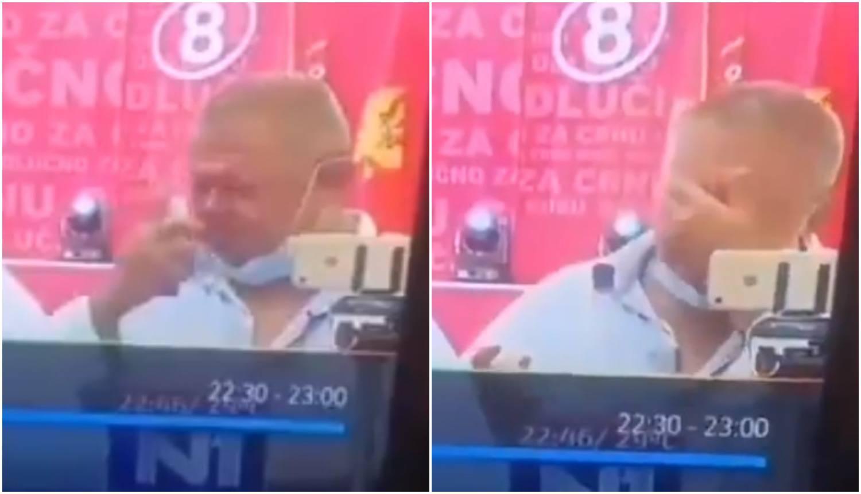 Član stranke dezinficirao cijelo lice i postao viralni hit u regiji