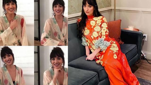 Dakota Johnson voli chic cvjetni motiv na haljinama i ogrtačima