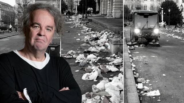 Miljenko Jergović: Zašto nam toliko smeta smeće koje se preko noći skupi oko HNK?