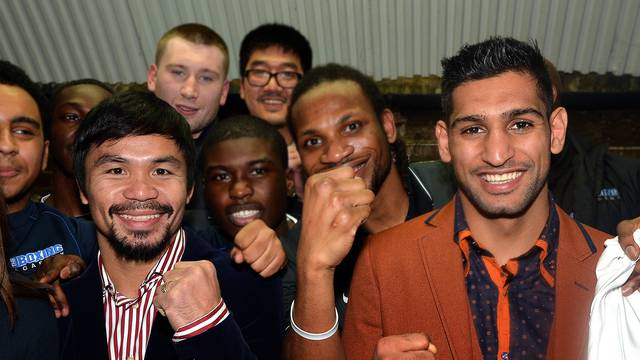 Amir Khan and Manny Pacquiao File Photo