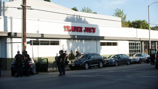 Police respond to a hostage situation at a Trader Joe's store in Los Angeles