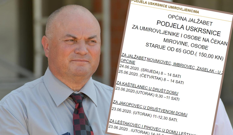 HDZ-ov načelnik dijeli uskrsnice krajem lipnja: 'Takva je praksa'