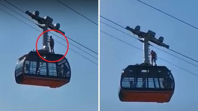 On se ne boji visine: Vozio se na krovu žičare u Dubrovniku...