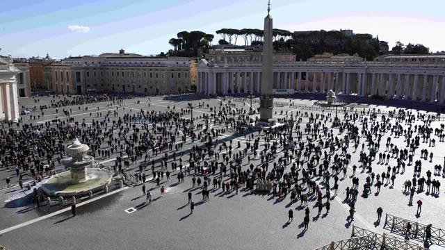 Pope Francis recites the Angelus