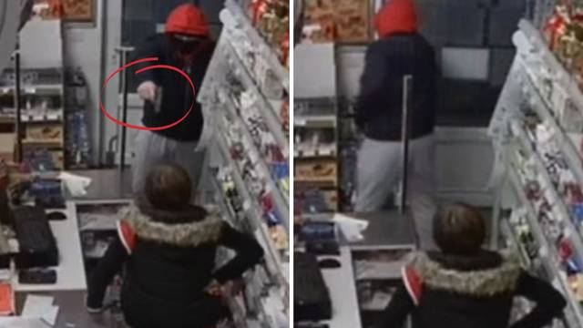 VIDEO: Upao u dućan u Slavoniji s pištoljem: 'Daj lovu!' Žena se podbočila i rekla: 'E, ne dam!'