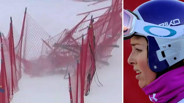 Stravičan pad bivše prvakinje! Vonn probila tri zaštitne mreže