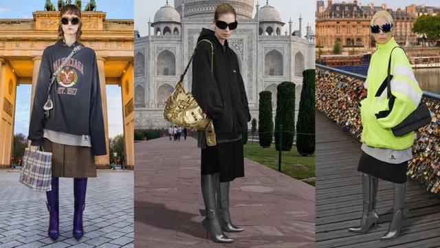 Balenciaga predlaže velike veste uz metalik čizme u špic