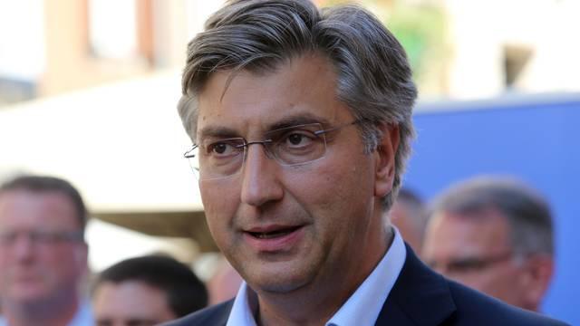 Predsjednik HDZ-a Andrej Plenković na riječkom Korzu se