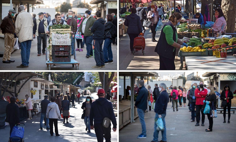 Prvi dan na tržnicama: Gužva i  redovi, teško je držati mjere
