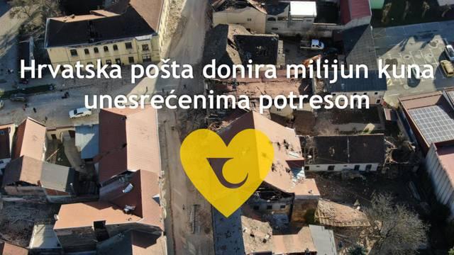 Hrvatska pošta donira milijun kuna za stradale u potresu, bez naknade i za donacije građana