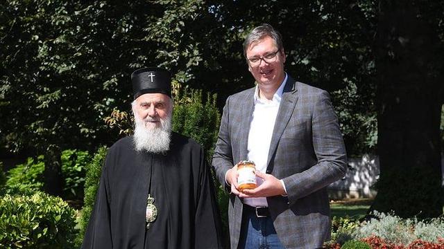 Vučić posjetio patrijarha Irineja u bolnici prije nego što je umro: 'Čast mi je bila poznavati ga'