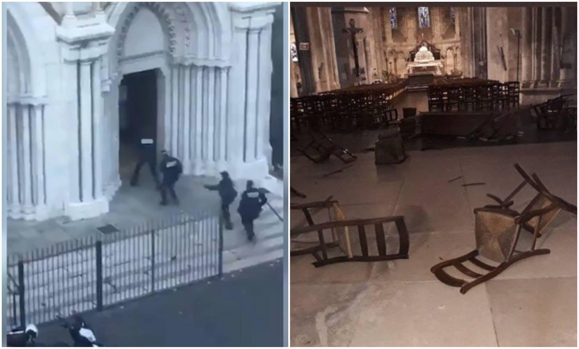 Trenuci užasa u Nici: Policajci uletavaju u crkvu, a napadač se sprema odrubiti taocima glave
