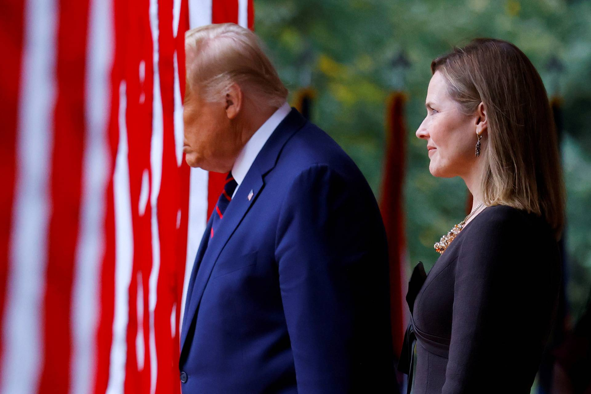 U.S President Donald Trump holds an event to announce his nominee of U.S. Court of Appeals for the Seventh Circuit Judge Amy Coney Barrett to fill the Supreme Court seat