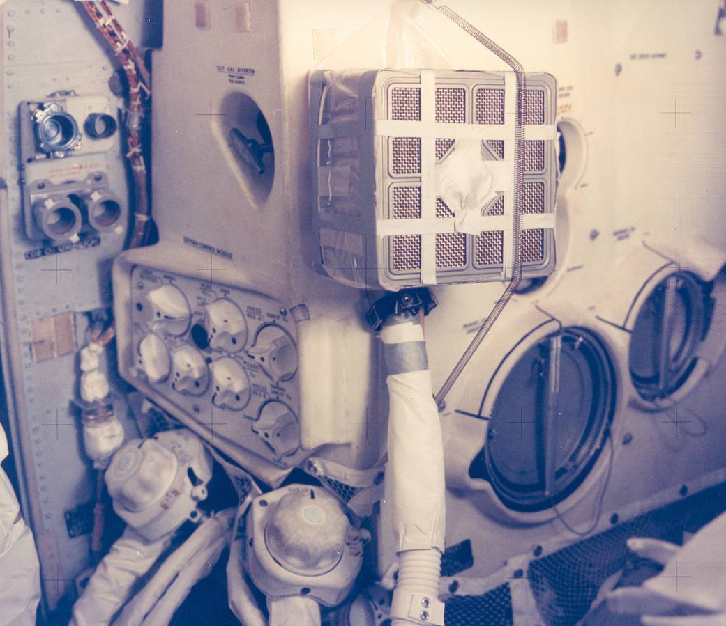 Interior View of the Apollo 13 Lunar Module and the Mailbox