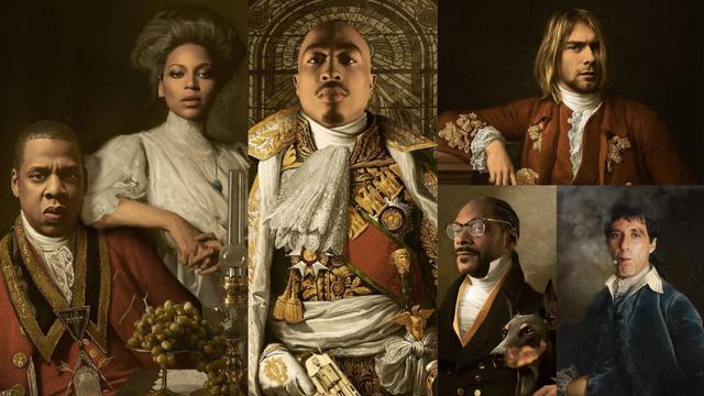 On ilustrira poznate zvijezde i radi njihove portrete iz prošlosti