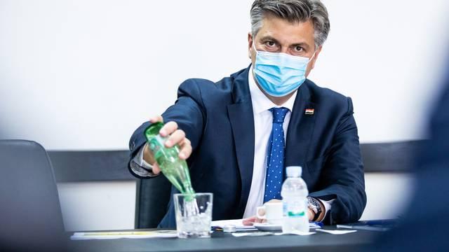 Andrej Plenković u Splitu se sastao s lokalnim čelnicima