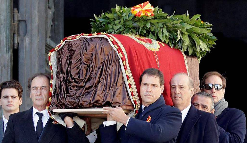Exhumation of late Spanish dictator Francisco Franco in Spain