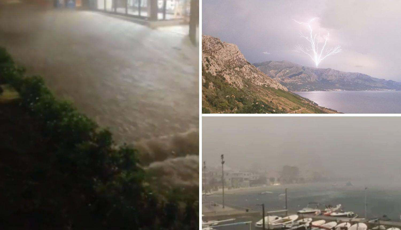Poplavilo kraj Dubrovnika, tuča, olujni vjetar zahvatili su obalu