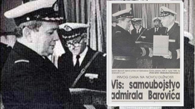 Crnogorski admiral JNA radije je pucao u sebe nego na hrvatske gradove u srbočetničkoj agresiji