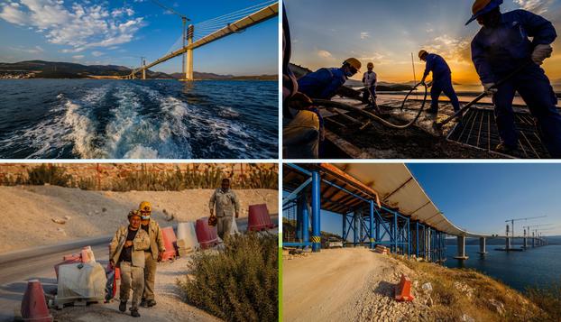 Nastavljaju se radovi na gradnji Pelješkog mosta, nema predaha