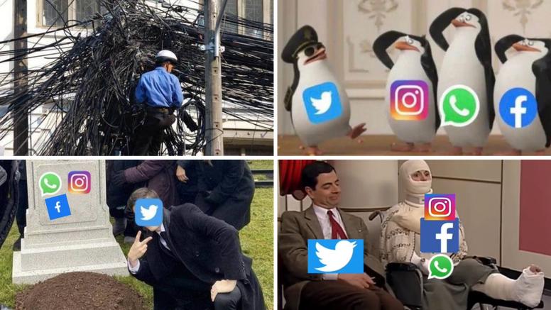 Memovi o padu Facebooka i Instagrama su urnebesni: U sve su se uključili i HGSS-ovci