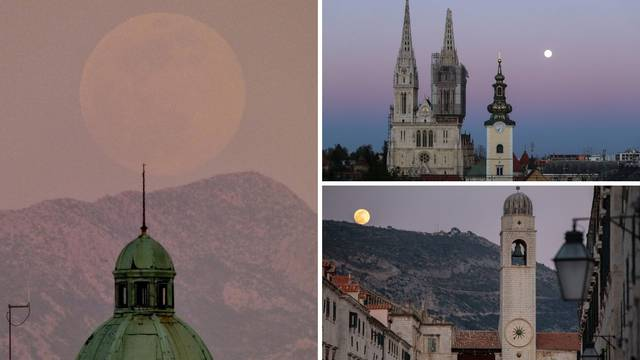 Simbol novog početka: U cijeloj Hrvatskoj zasjao supermjesec