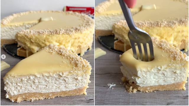 Recept: Cheesecake koji se ne peče s finom bijelom čokoladom