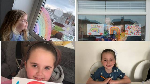 Djeca u Britaniji i SAD-u crtaju duge po prozorima za bolji dan