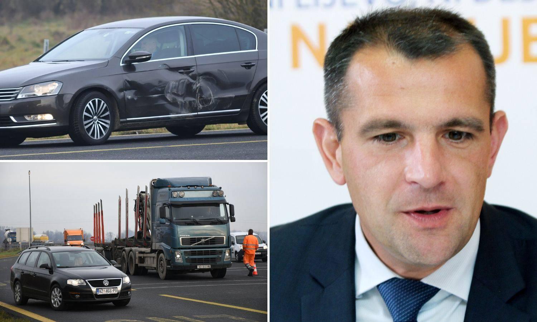 Župan Posavec imao prometnu: 'Kamion se na A4 zabio u nas'