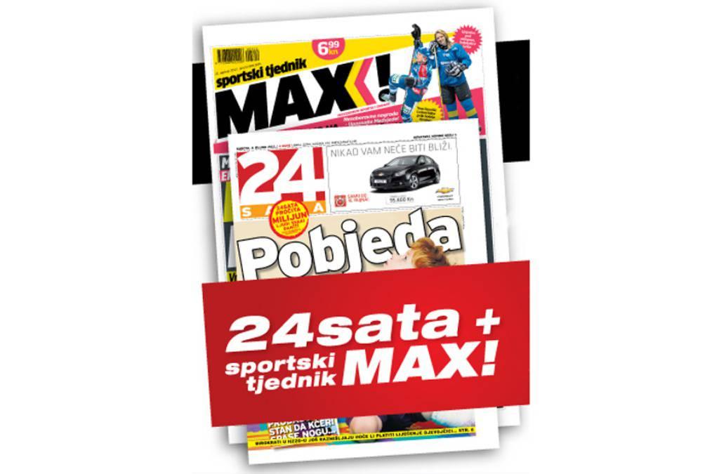 I ove subote potražite super sportski paket 24sata i MAX-a!
