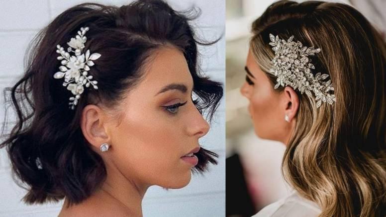 Kristali u kosi: Prejednostavne frizure za moderne mladenke
