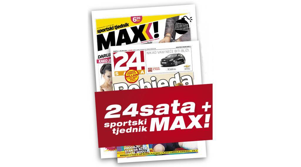 U subotu potražite super sportski paket 24sata i Maxa!