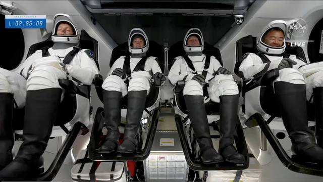 Astronauts await their launch to the Space Station