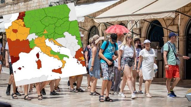 Nova korona karta Europe: Obala je i dalje u narančastom, turistički konkurenti u crvenom