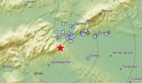 Novi potres od 2,1 Richtera pogodio je okolicu Zagreba