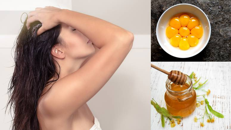 Domaća njega kose: Jaje, ulje ricinusa i med nahranit će vlasi te im dati mekoću i visoki sjaj